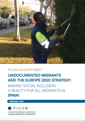 Undocumented Migrants and the Europe 2020 Strategy: Making Social Inclusion a Reality for all Migrants in Spain – EN
