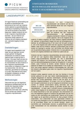 Strategieën om Kinderen in een Irreguliere Migratiesituatie beter te Beschermen in Europa – Landenrapport Nederland (Februari 2012) – NL