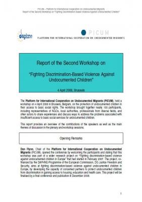 """Workshop on """"Fighting Discrimination-Based Violence Against Undocumented Children"""" (April 2008)"""