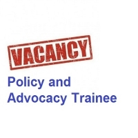 Vacancy for Policy and Advocacy Traineeship