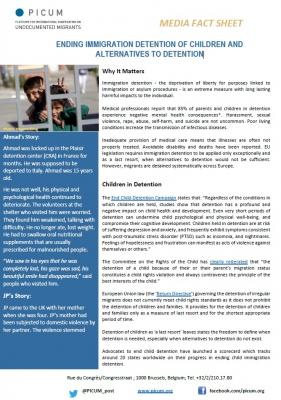 Media Factsheet: Ending immigration detention of children and alternatives to detention