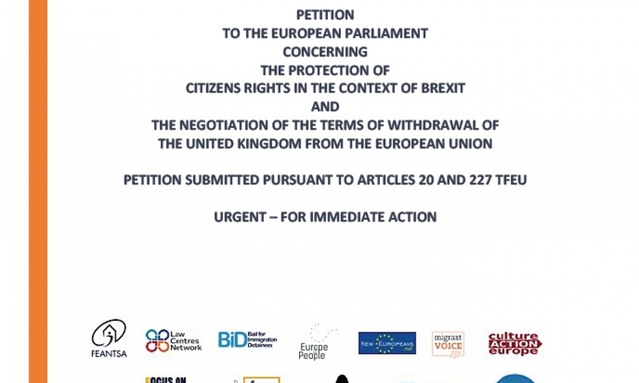 BREXIT: PETITION TO ENSURE STRONGER PROTECTION OF CITIZENS' RIGHTS