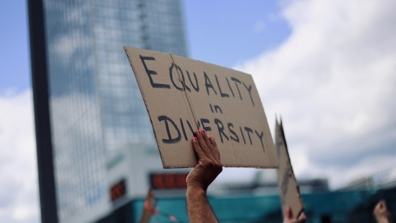 equality in diversity protest sign