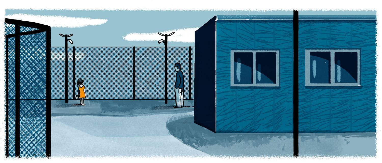 Illustration of a detention centre