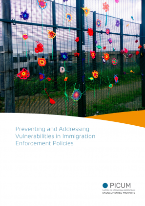 Cover of the publication on vulnerabilities in immigration enforcement policies