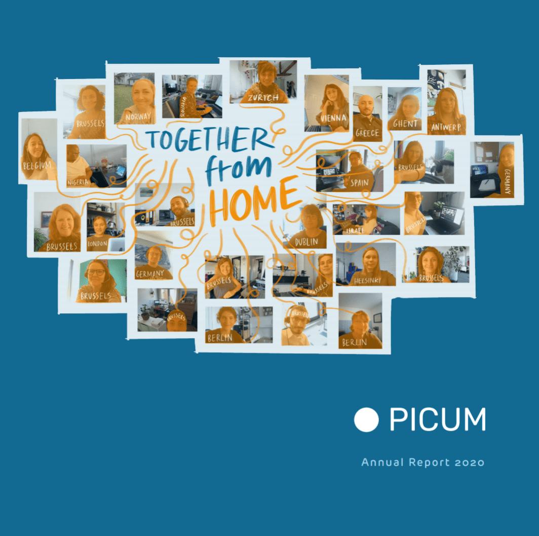 Cover of PICUM Annual Report 2020