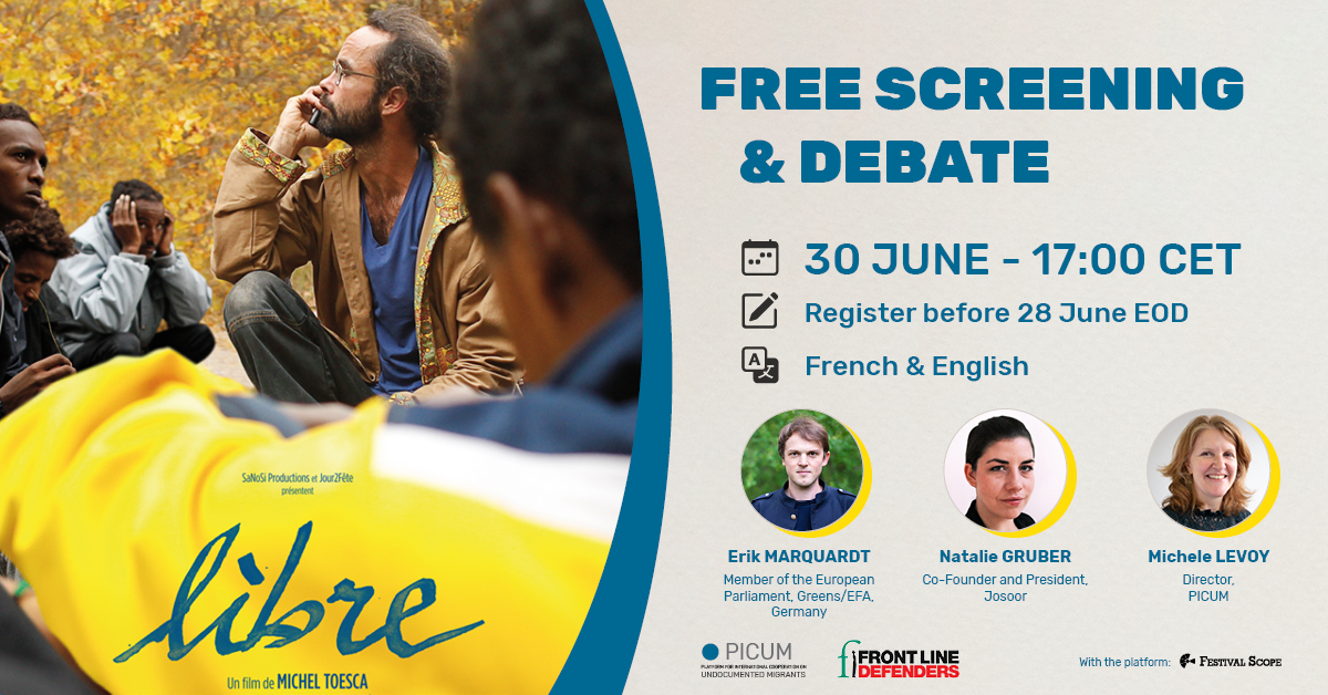 Flyer for a free screening and debate