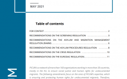 PICUM Recommendations on Safeguarding Children's rights in the Migration and Asylum Pact Proposals – May 2021 – EN