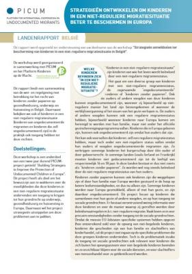 Strategieën ontwikkelen om kinderen in een niet-reguliere migratiesituatie beter te beschermen in Europa – Landenrapport België (Maart 2012) – NL