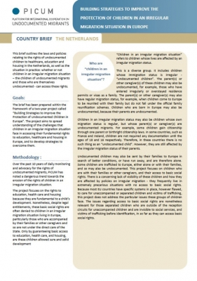Building Strategies to Improve the Protection of Children in an Irregular Migration Situation in Europe – Country Brief Netherlands (February 2012) – EN