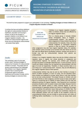 Building Strategies to Improve the Protection of Children in an Irregular Migration Situation in Europe – Country Brief Poland (December 2011) – EN