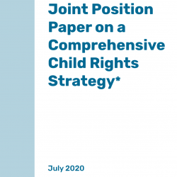 Joint Position Paper on a Comprehensive Child Rights Strategy – July 2020 – EN