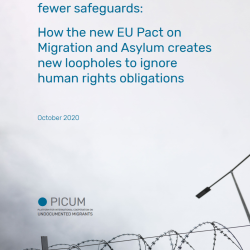 More detention, fewer safeguards: How the new EU Pact on Migration and Asylum creates new loopholes to ignore human rights obligations – October 2020 – EN