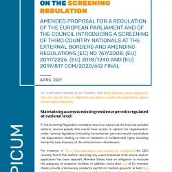 PICUM Recommendations on the Screening Regulation – April 2021 – EN