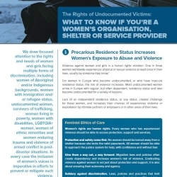 What to Know if you're a Women's Organisation. Shelter or Service Provider