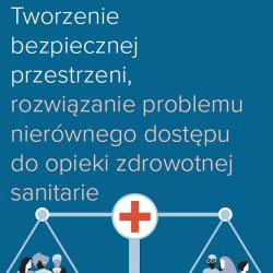 PL – Tworzenie bezpiecznej przestrzeni, rozwiazanie problemu nierównego dostepu do opieki zdrowotnej sanitarie