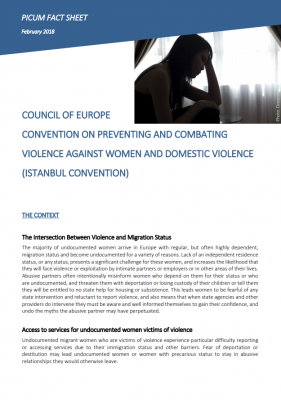 Factsheet: Council of Europe Convention on Preventing and Combating Violence against Women and Domestic Violence (Istanbul Convention)