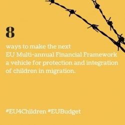 8 Ways to make the next EU Multiannual Financial Framework a vehicle for protection and integration of children in migration
