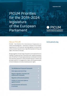 PICUM Priorities for the 2019-2024 legislature of the European Parliament – September 2019