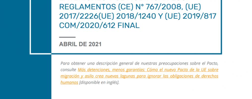 Recomendacones de PICUM sobre el Reglamento de control – April 2021 – ES