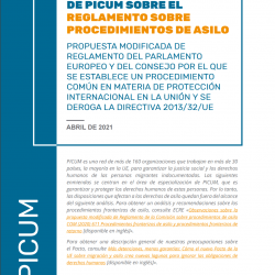 Recomendaciones de PICUM sobre el Reglamento sobre procedimientos de asilo – April 2021 – ES