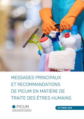 MESSAGES PRINCIPAUX ET RECOMMANDATIONS DE PICUM EN MATIÈRE DE TRAITE DES ÊTRES HUMAINS – FR – October 2020