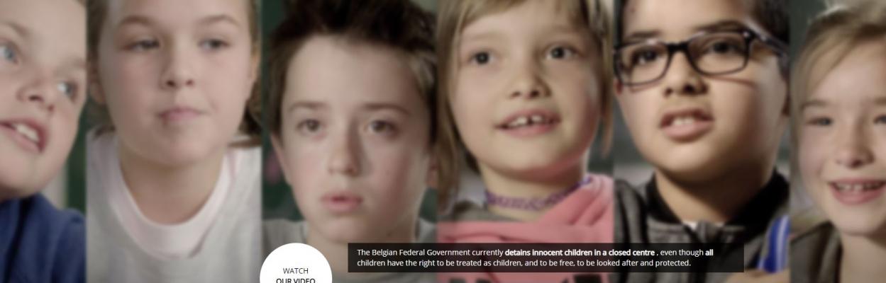 Fighting against the detention of migrant children in Belgium